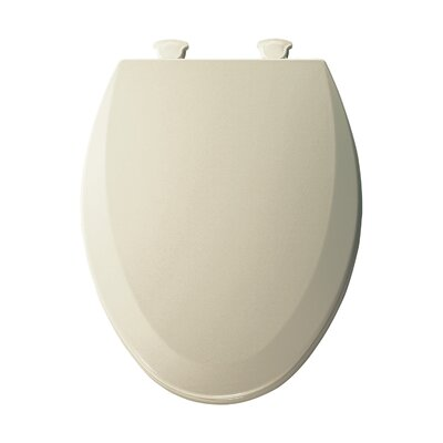 Molded Wood Elongated Toilet Seat Finish: Almond