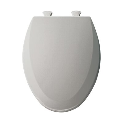 Molded Wood Elongated Toilet Seat Finish: Silver