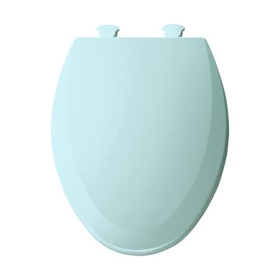 Molded Wood Elongated Toilet Seat Finish: Dresden Blue