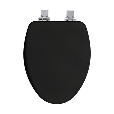 High Density Elongated Toilet Seat Finish: Black