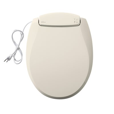 Radiance Heated Night Light Round Toilet Seat Finish: Biscuit