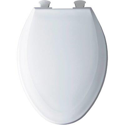 Solid Plastic Elongated Toilet Seat Finish: White