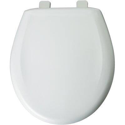 Solid Plastic Round Toilet Seat Finish: Crane White