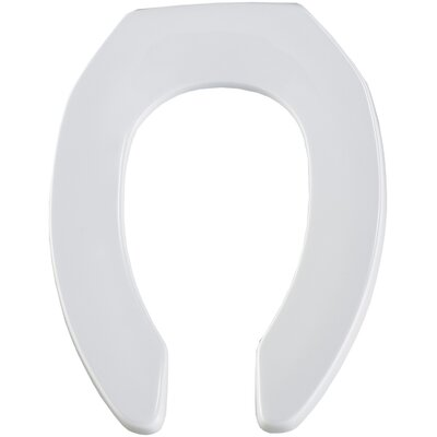Commercial Elongated Toilet Seat Finish: White, Hinge Type: Self-Sustaining Check Hinge