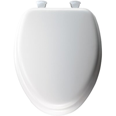 Cushioned Elongated Toilet Seat Finish: White
