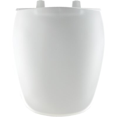 Plastic Round Front Toilet Seat Finish: White