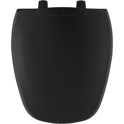 Plastic Round Front Toilet Seat Finish: Black