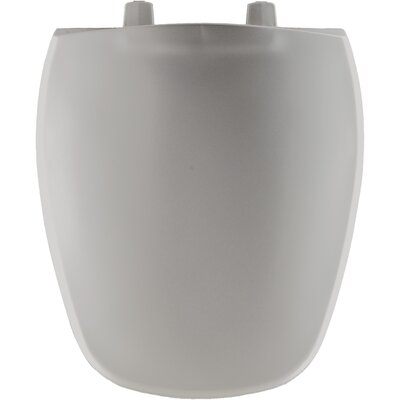 Plastic Round Front Toilet Seat Finish: Silver