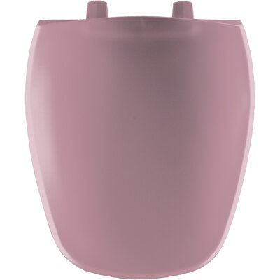 Plastic Round Front Toilet Seat Finish: Dusty Rose