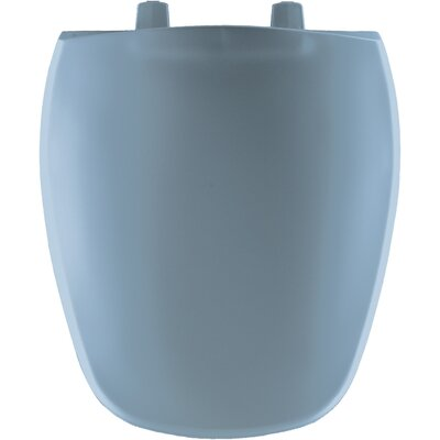 Plastic Round Front Toilet Seat Finish: Glacier Blue