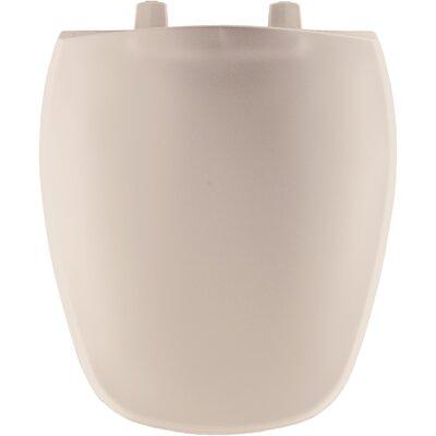 Plastic Round Front Toilet Seat Finish: Blush
