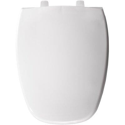 Eljer Molded Emblem Solid Plastic Elongated Toilet Seat Finish: White