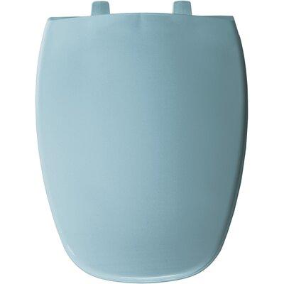 Eljer Molded Emblem Solid Plastic Elongated Toilet Seat Finish: Twilight Blue