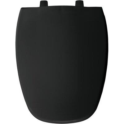 Eljer Molded Emblem Solid Plastic Elongated Toilet Seat Finish: Black
