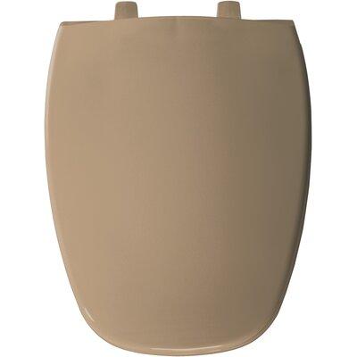 Eljer Molded Emblem Solid Plastic Elongated Toilet Seat Finish: Sand