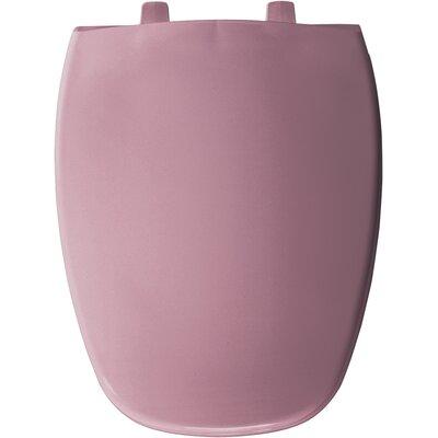 Eljer Molded Emblem Solid Plastic Elongated Toilet Seat Finish: Dusty Rose