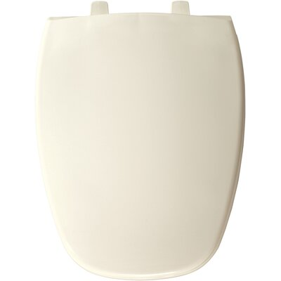 Eljer Molded Emblem Solid Plastic Elongated Toilet Seat Finish: Biscuit/Linen
