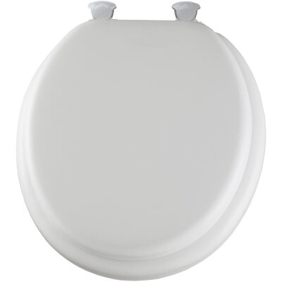 Cushioned Round Toilet Seat Finish: White