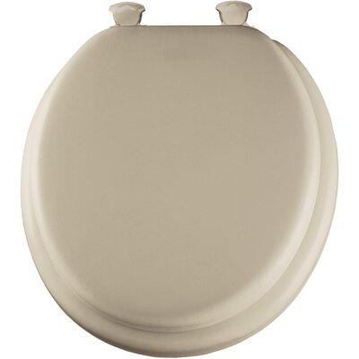 Cushioned Round Toilet Seat Finish: Bone