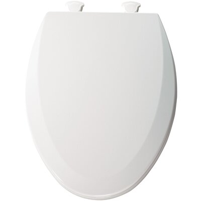 Molded Wood Elongated Toilet Seat Finish: White