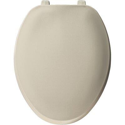 Solid Plastic Elongated Toilet Seat Finish: Bone