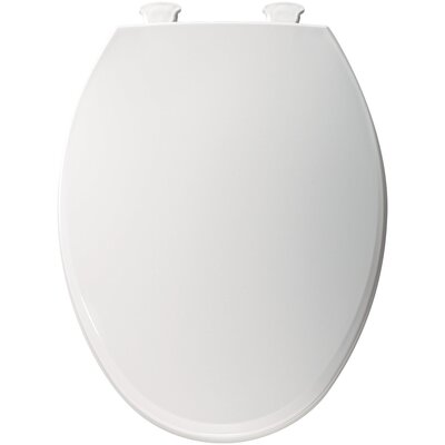 Easy Clean Plastic Elongated Toilet Seat Finish: White