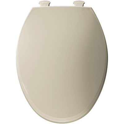 Easy Clean Plastic Elongated Toilet Seat Finish: Bone