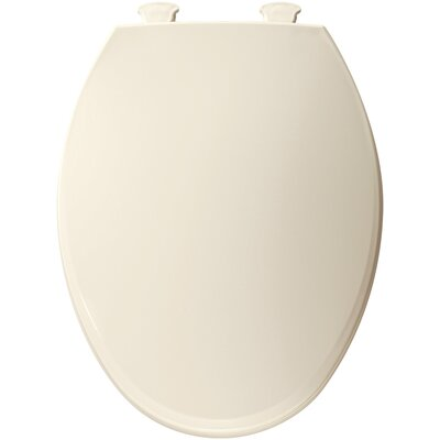 Easy Clean Plastic Elongated Toilet Seat Finish: Biscuit