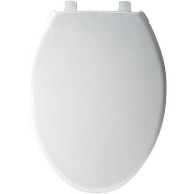 Solid Plastic Elongated Toilet Seat Hinge Type: Self-Sustaining