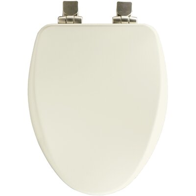 High Density Molded Wood Elongated Toilet Seat Finish: Biscuit