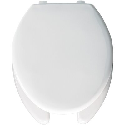 Elongated Commercial Open Front Solid Plastic Toilet Seat with Top-Tite Hinge Type: Top-Tite Hinge