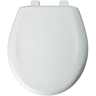 Solid Plastic Round Toilet Seat Finish: White