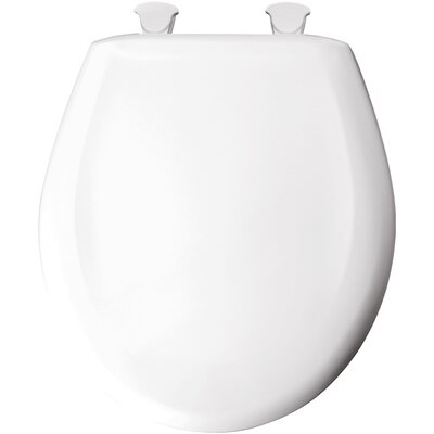 Solid Plastic Elongated Toilet Seat Finish: White