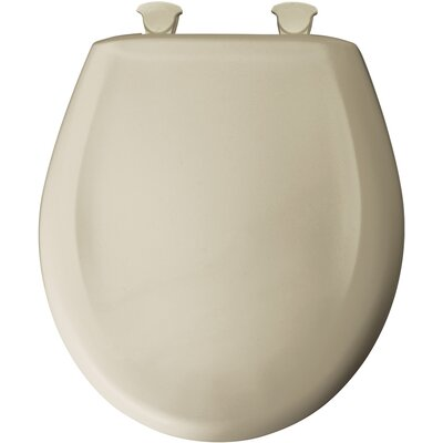 Residential Plastic Solid Round Toilet Seat Finish: Bone