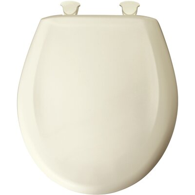 Residential Plastic Solid Round Toilet Seat Finish: Biscuit/Linen