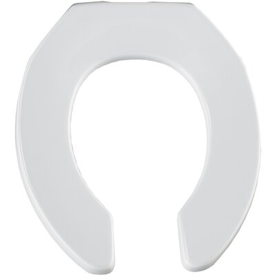 Commercial Elongated Toilet Seat Finish: White, Hinge Type: Check Hinge