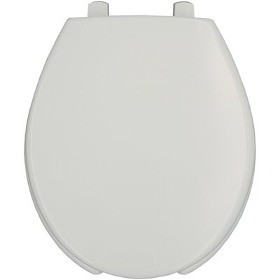 Medic-Aid Lift Commercial Open Front Solid Plastic Round Toilet Seat