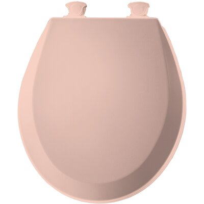 Molded Wood Round Toilet Seat Finish: Venetian Pink