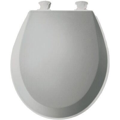 Molded Wood Round Toilet Seat Finish: Silver