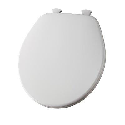 Molded Wood Round Toilet Seat Finish: White