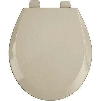 Commercial Open Front Molded Wood Round Toilet Seat Finish: Bone