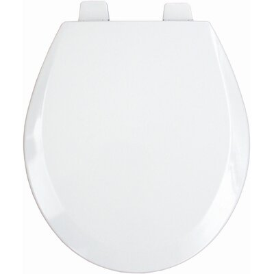 Molded Wood Decorator Commercial Open Front Round Toilet Seat Finish: White