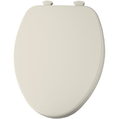 Closed Front Elongated Toilet Seat Finish: Biscuit/Linen