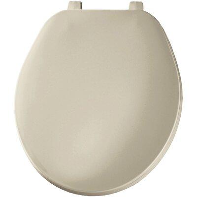 Solid Plastic Round Toilet Seat Finish: Bone