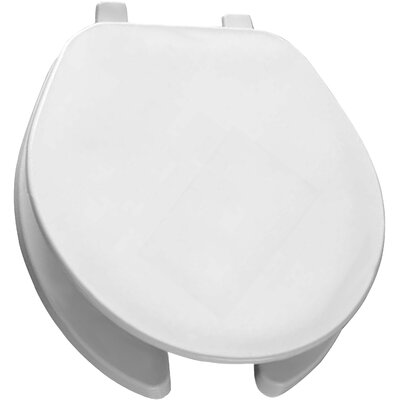 Open Front Solid Plastic Round Toilet Seat Finish: White
