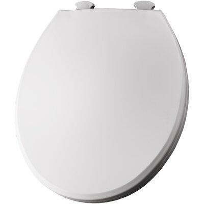 Solid Plastic Round Toilet Seat Finish: White