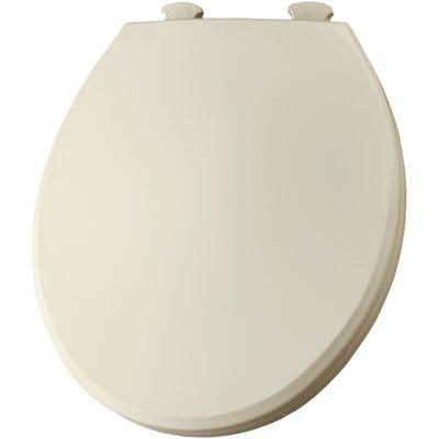 Solid Plastic Round Toilet Seat Finish: Biscuit