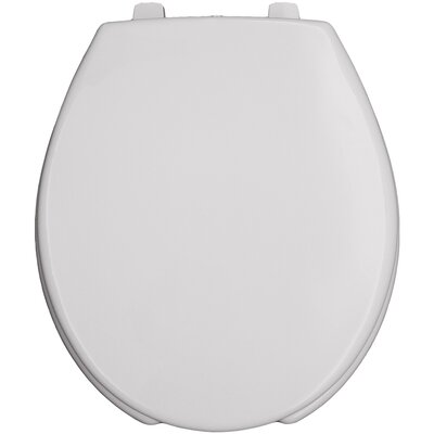 Commercial Open Front Solid Plastic Round Toilet Seat