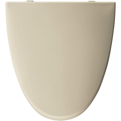 Residential Plastic Elongated Toilet Seat Finish: Bone