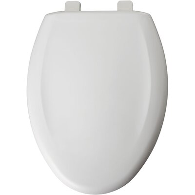 Residential Plastic Elongated Toilet Seat Finish: White